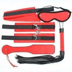 Zestaw BDSM dla początkujących - Toyz4Lovers czarno-czerwony