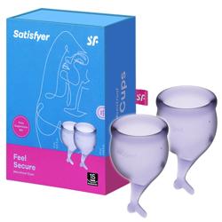 Zestaw kubeczków menstruacyjnych Satisfyer Feel Secure Menstrual Cup Set Lila
