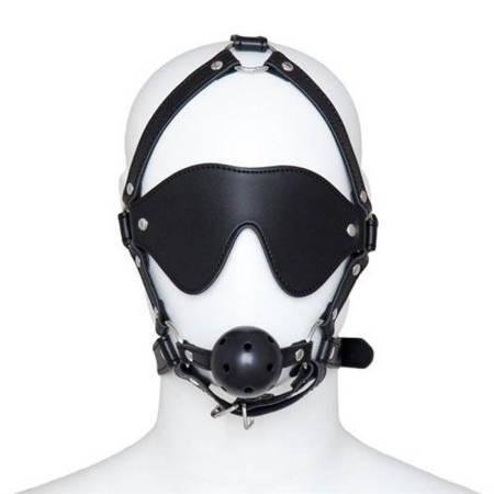 Uprząż z maską i kneblem Toyz4lovers